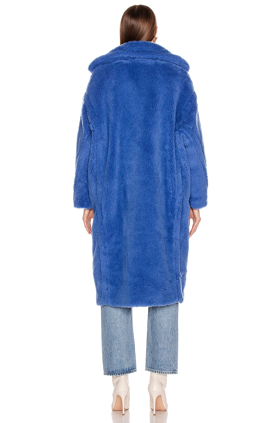 Image 4 of Max Mara Teddy Tedgirl Coat in Cornflower Blue