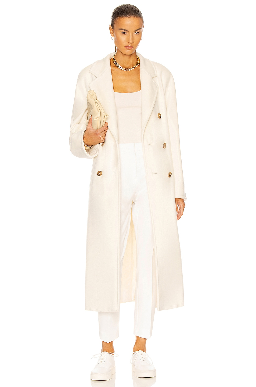 Image 1 of Max Mara Madame Coat in Bianco