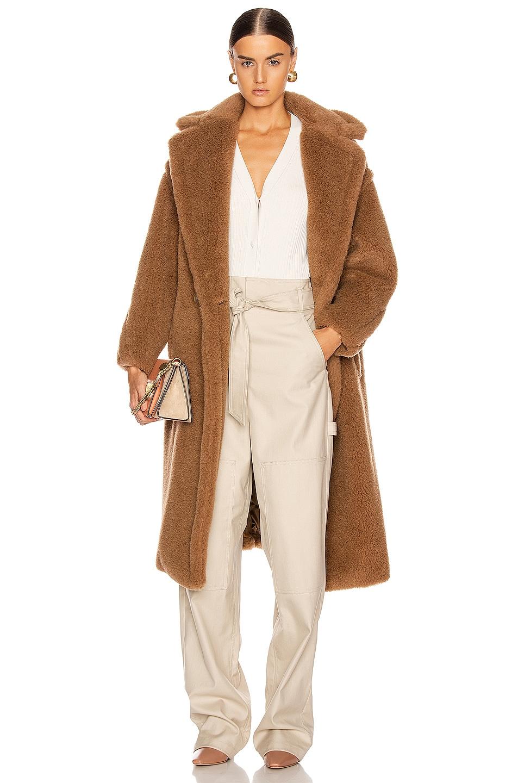 Image 1 of Max Mara Teddy Coat in Camel
