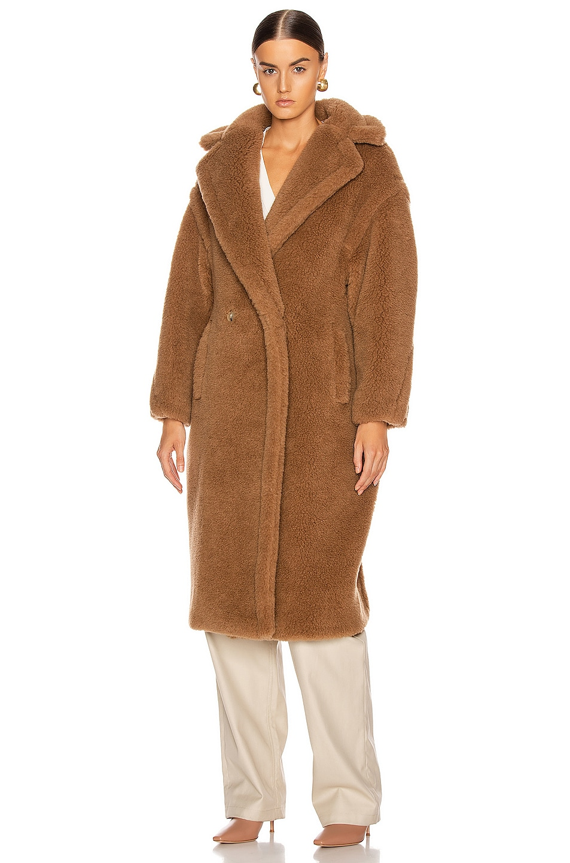Image 2 of Max Mara Teddy Coat in Camel
