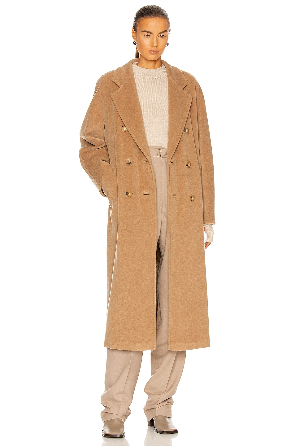 Image 1 of Max Mara Madame Coat in Camel