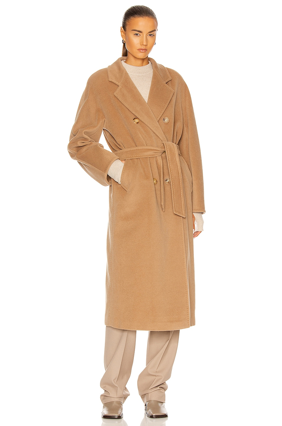 Image 2 of Max Mara Madame Coat in Camel