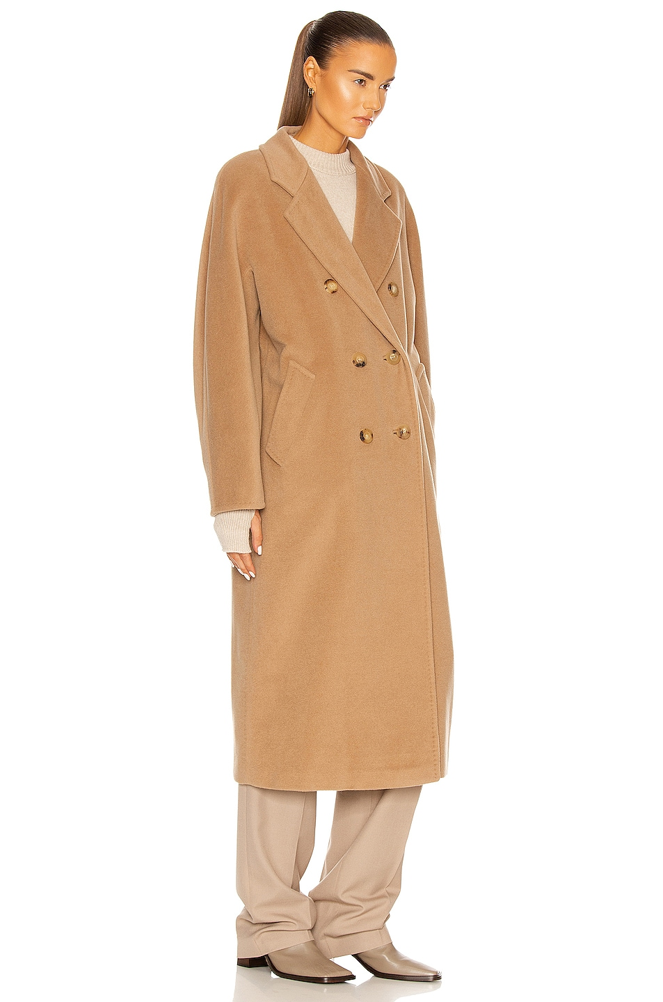 Image 3 of Max Mara Madame Coat in Camel