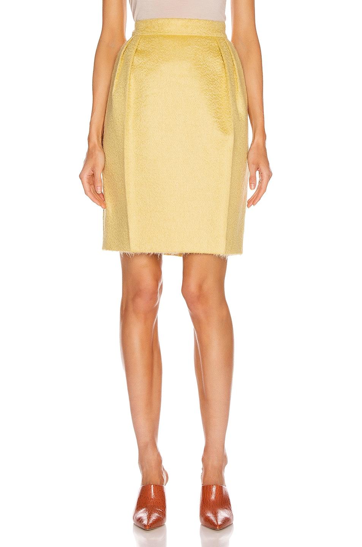 Image 1 of Max Mara Turchia Skirt in Yellow