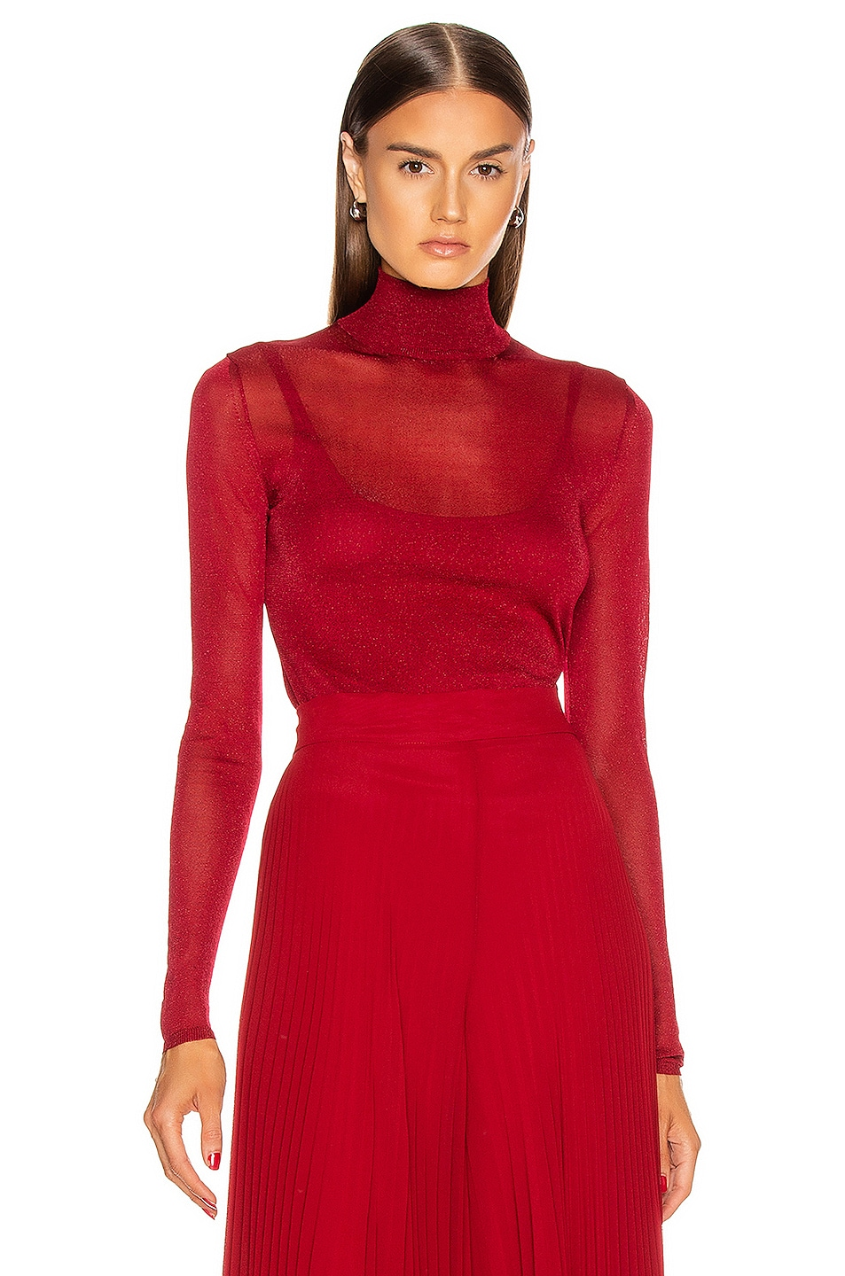 Image 1 of Max Mara Pavento Knit Top in Red
