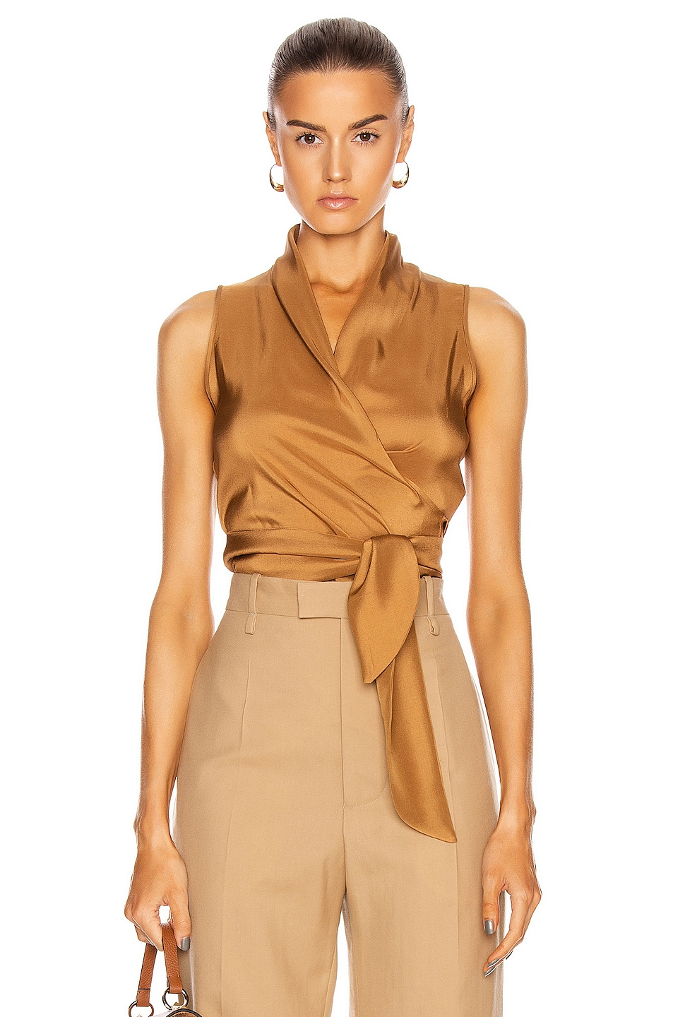 Image 1 of Max Mara Elce Top in Tobacco