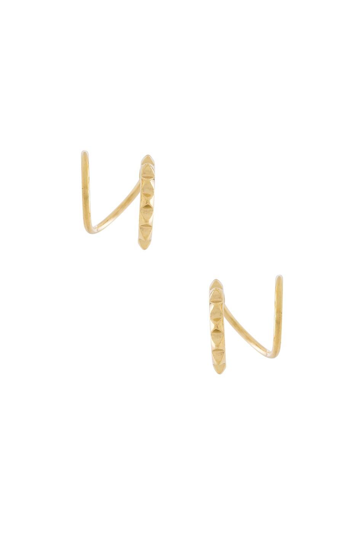 Image 1 of Maria Black 14 Karat Klaxon Twirl Earrings in Gold
