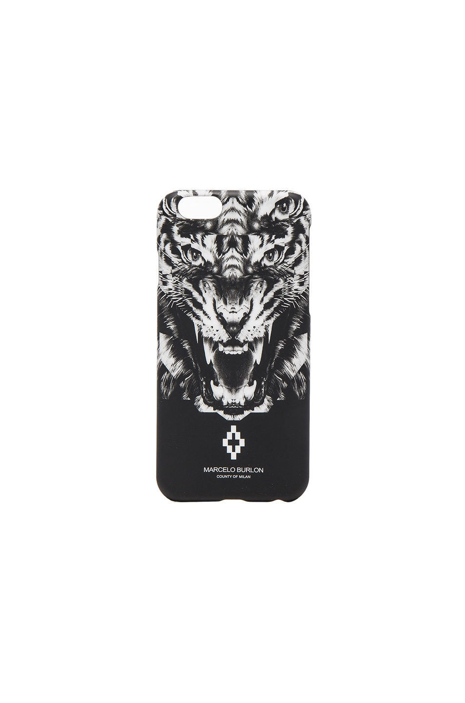 Image 1 of Marcelo Burlon El Muerto iPhone Case in Black Multi