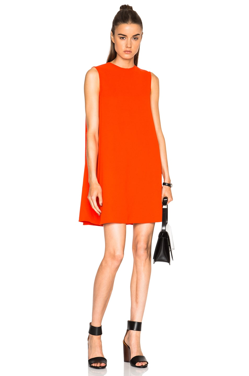 bf3d59d411 Image 1 of McQ Alexander McQueen Trapeze Dress in Red