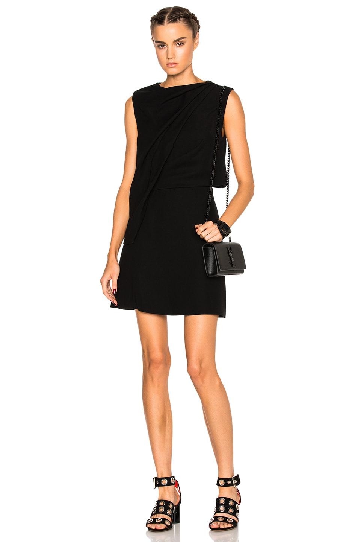 02305f21b8d82 Image 1 of McQ Alexander McQueen Shawl Drape Mini Dress in Black