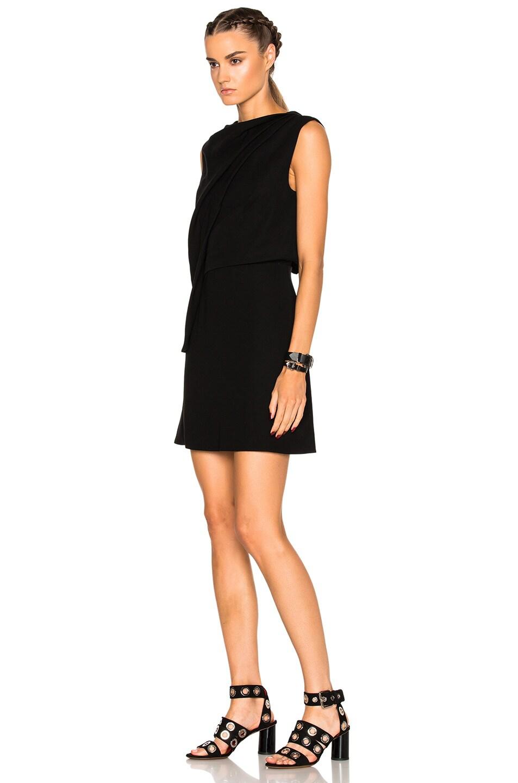 b5de1e7f4004d Image 2 of McQ Alexander McQueen Shawl Drape Mini Dress in Black