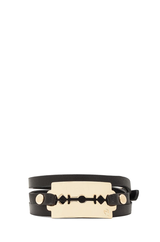 Image 1 of McQ Alexander McQueen Razor Bracelet in Black