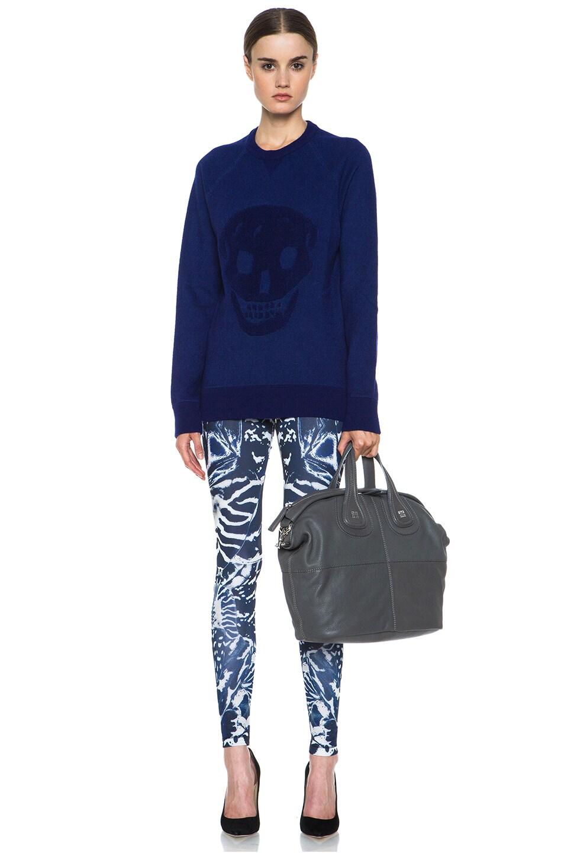 Image 5 of McQ Alexander McQueen Kaleidoscope Poly-Blend Leggings in Indigo & Black
