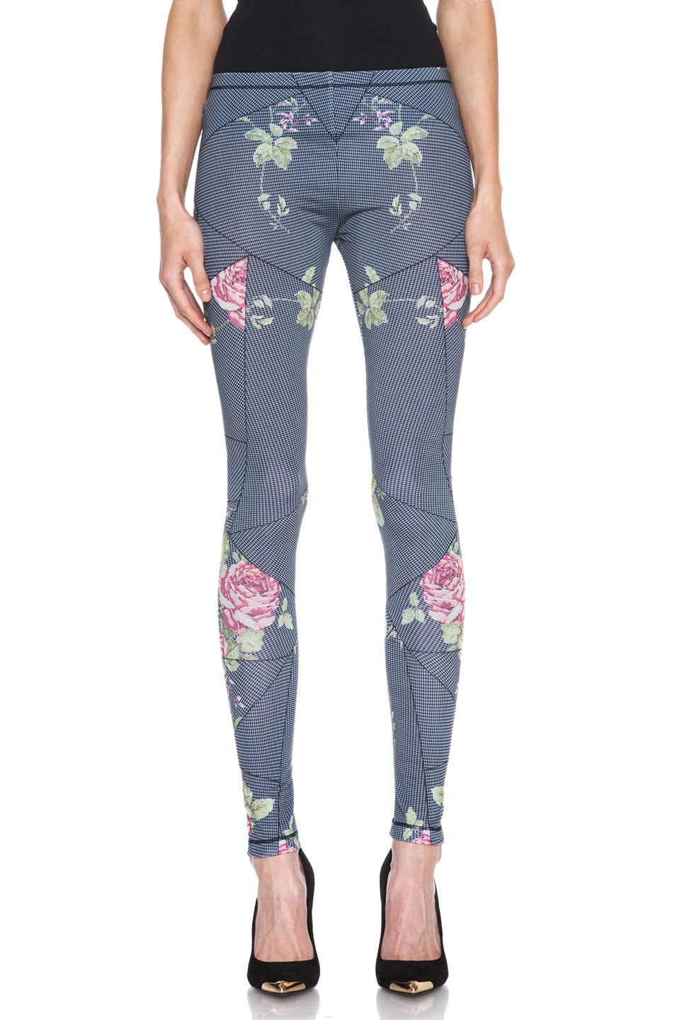 Image 1 of McQ Alexander McQueen Printed Poly-Blend Legging in Antique Rose