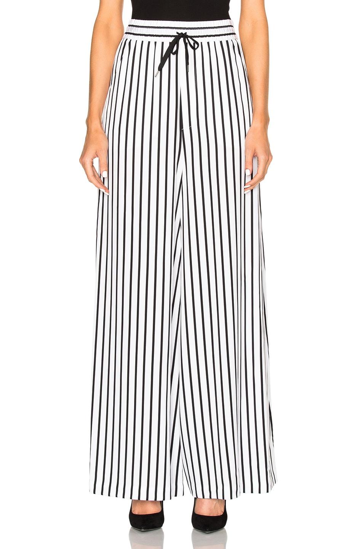 Image 1 of McQ Alexander McQueen Japan Pants in White & Black Stripe