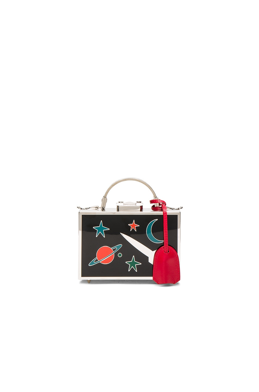Image 1 of Mark Cross Galaxy Brass Grace Mini Box Bag in Palladium Multi