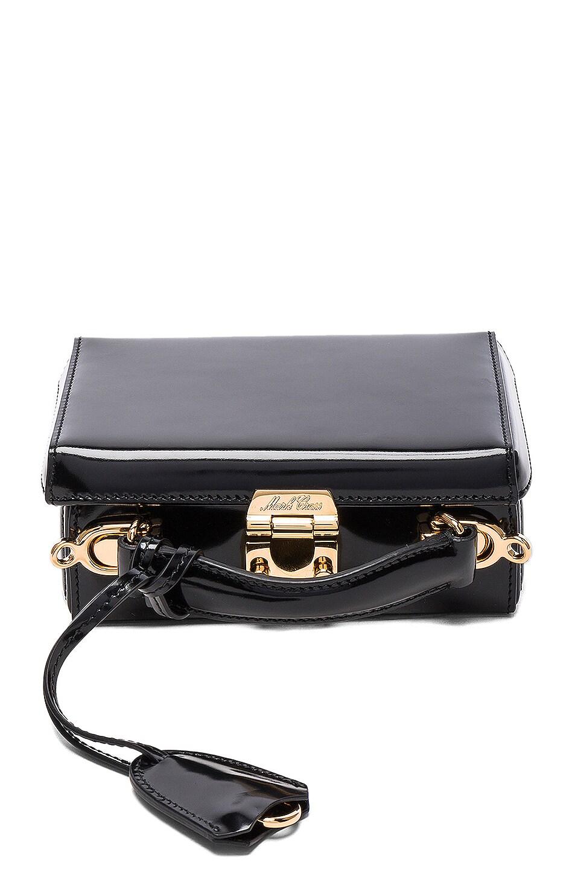 Image 1 of Mark Cross Grace Mini Box Bag in Brush Off Black