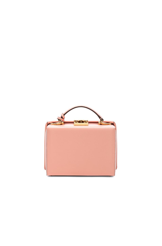 Image 3 of Mark Cross Grace Small Box Bag in Salmon Caviar