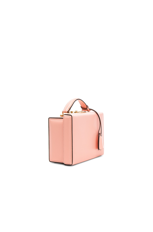 Image 4 of Mark Cross Grace Small Box Bag in Salmon Caviar