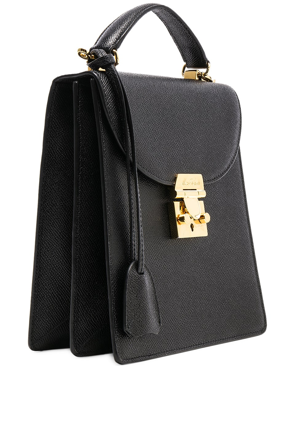 Image 4 of Mark Cross Saffiano Uptown Bag in Black