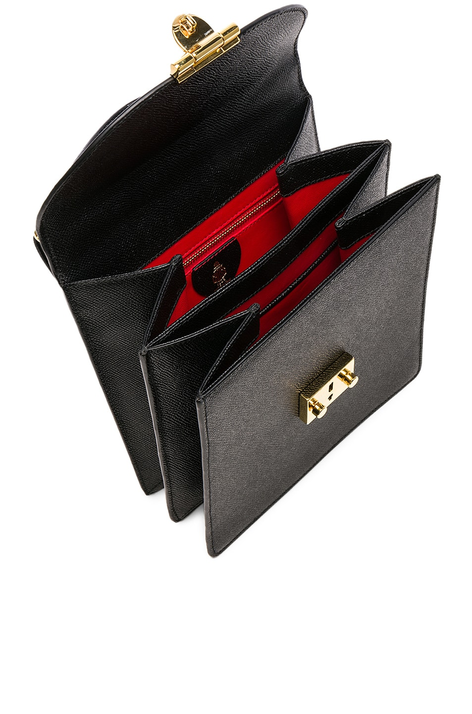 Image 5 of Mark Cross Saffiano Uptown Bag in Black