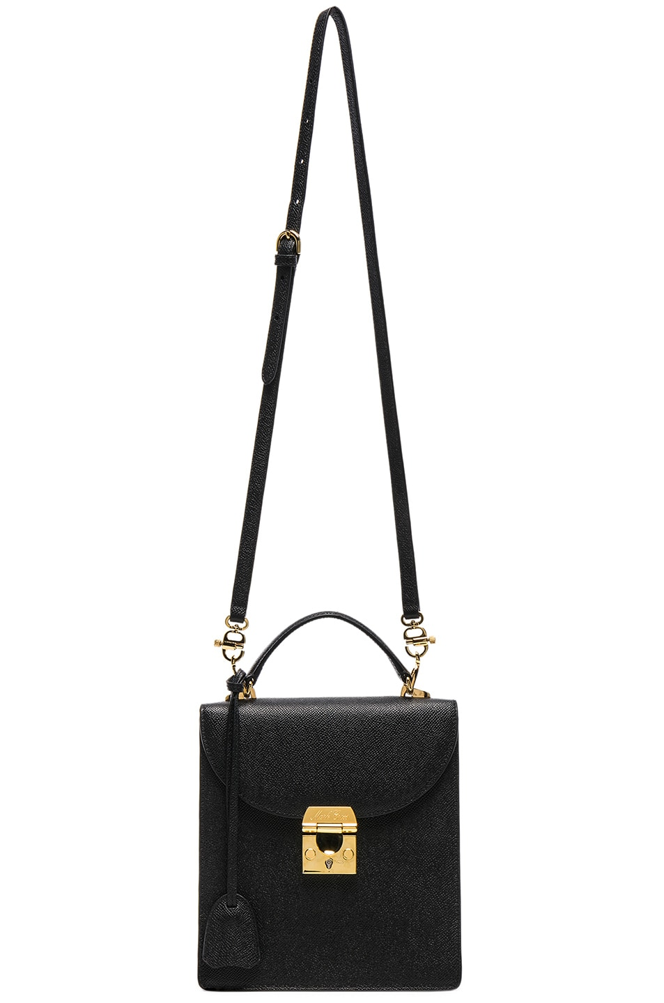Image 6 of Mark Cross Saffiano Uptown Bag in Black