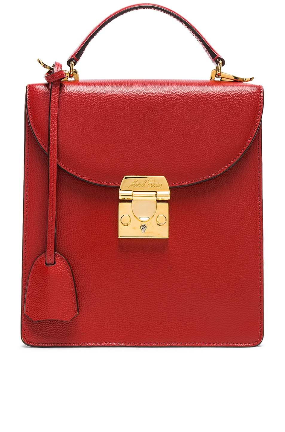 1f68394918f36a Image 1 of Mark Cross Caviar Uptown Bag in Brick Red