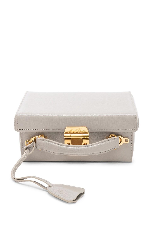 Image 1 of Mark Cross Small Caviar Grace Box Bag in Stone
