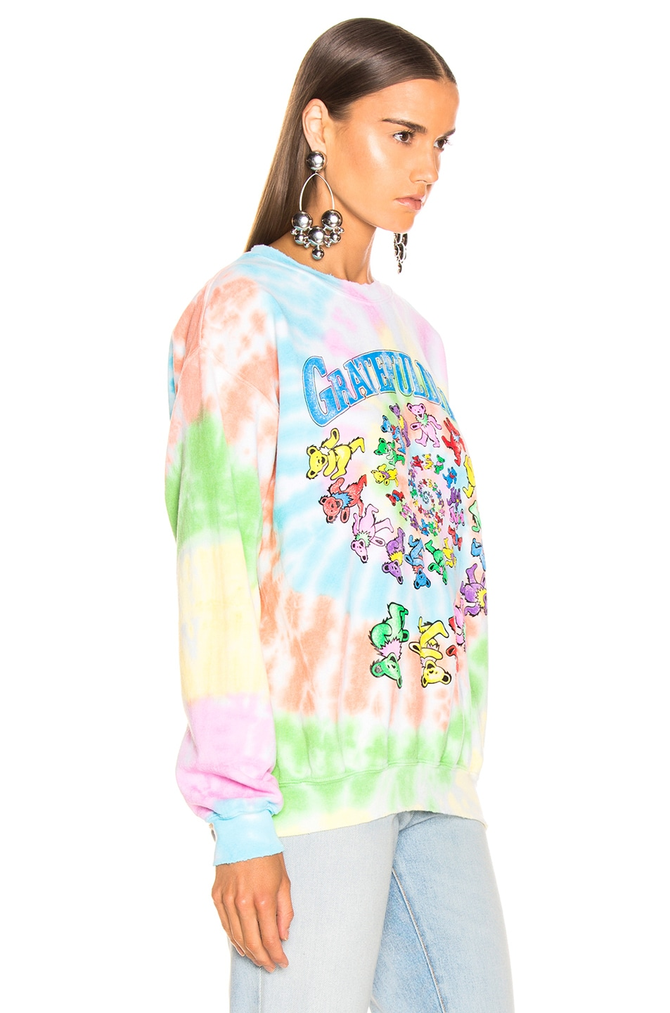 Image 3 of Madeworn The Grateful Dead Sweatshirt in Tie Dye
