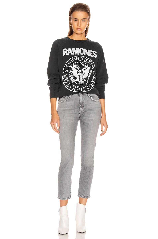 Image 4 of Madeworn The Ramones Sweatshirt in Black Fade