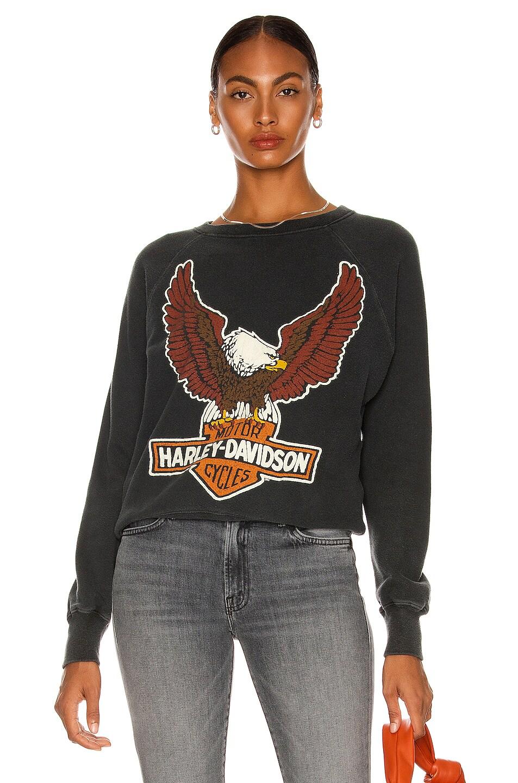 Image 1 of Madeworn Harley Davidson Sweatshirt in Washed Black