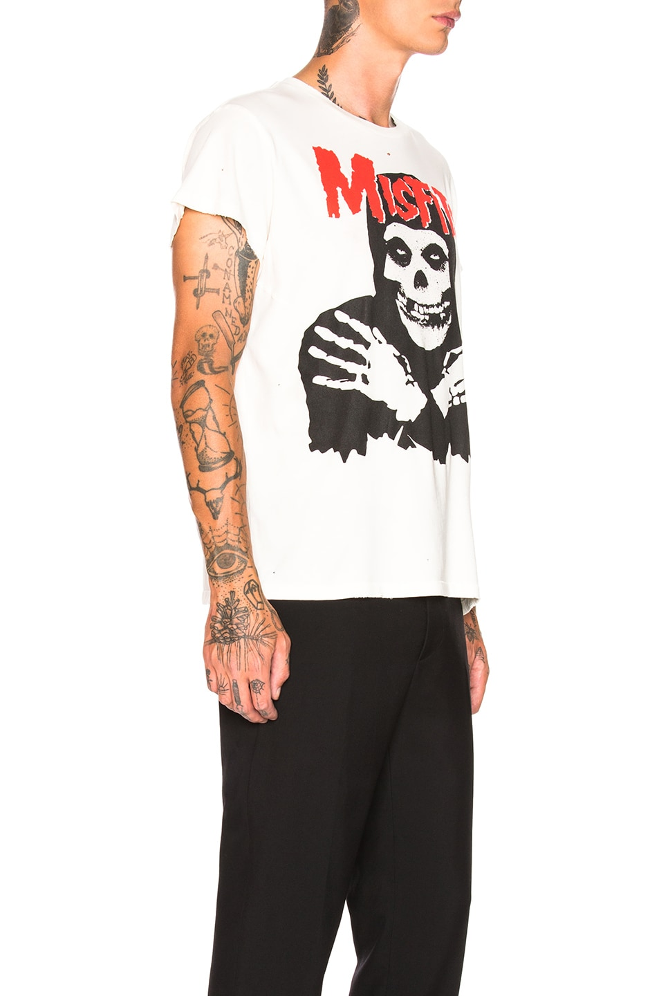 Image 2 of Madeworn Misfits Crew Tee in Off White