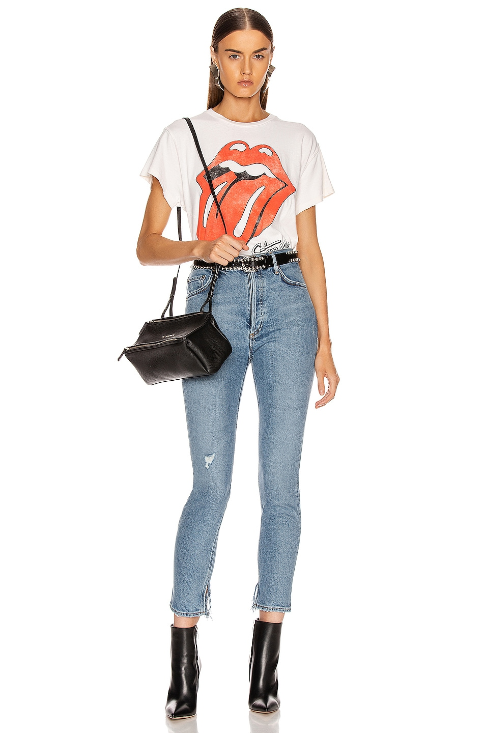 Image 5 of Madeworn Rolling Stones Classic Crew Tee in Off White