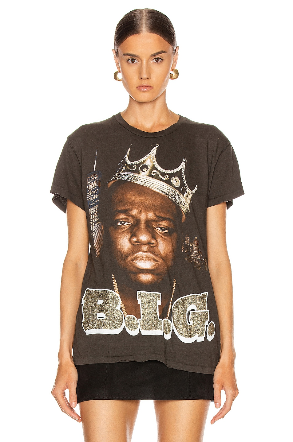 Image 2 of Madeworn B.I.G. Crew Tee in Dirty Black