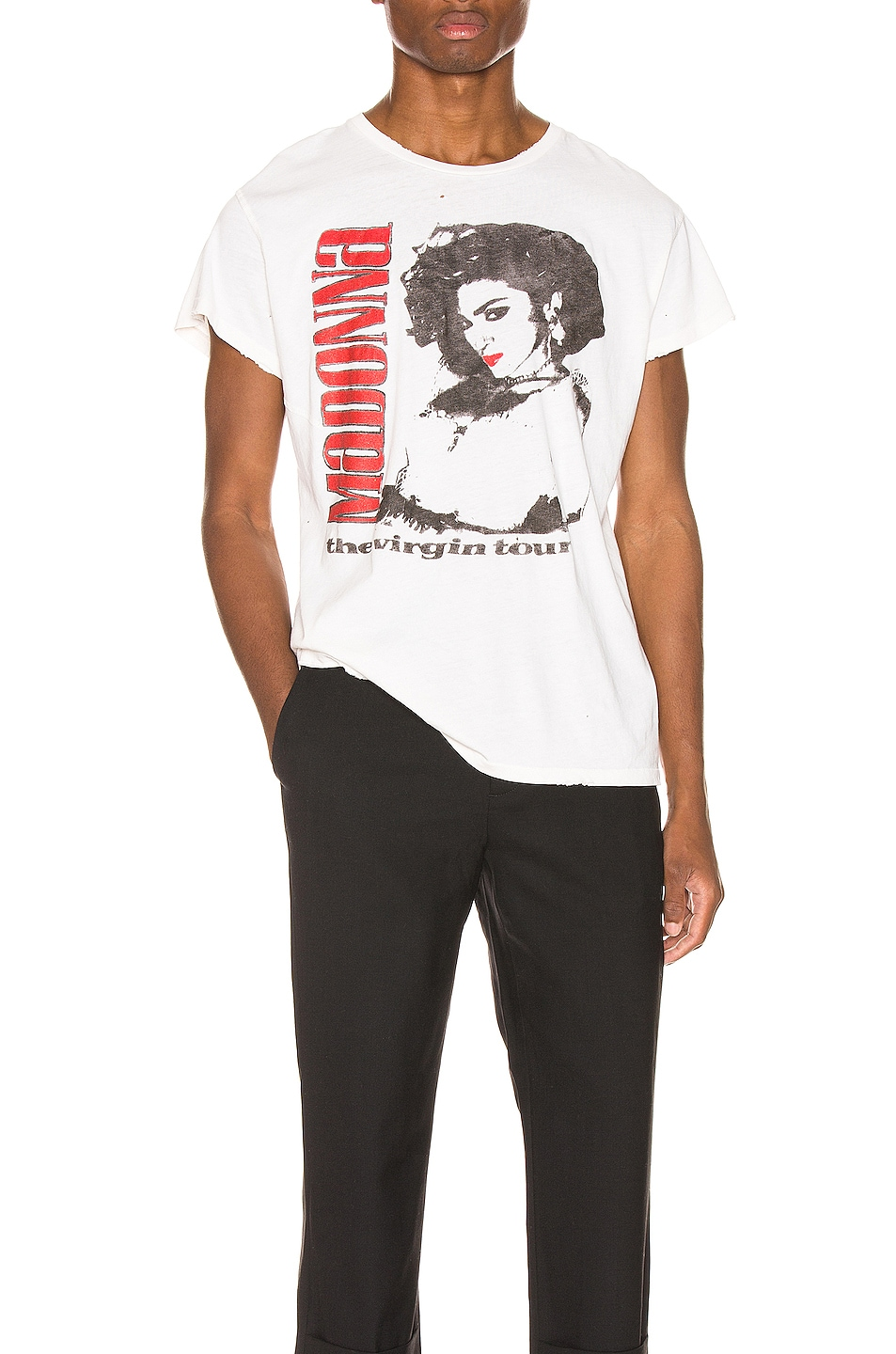 Image 1 of Madeworn Madonna The Virgin Tour Crew Tee in Off White