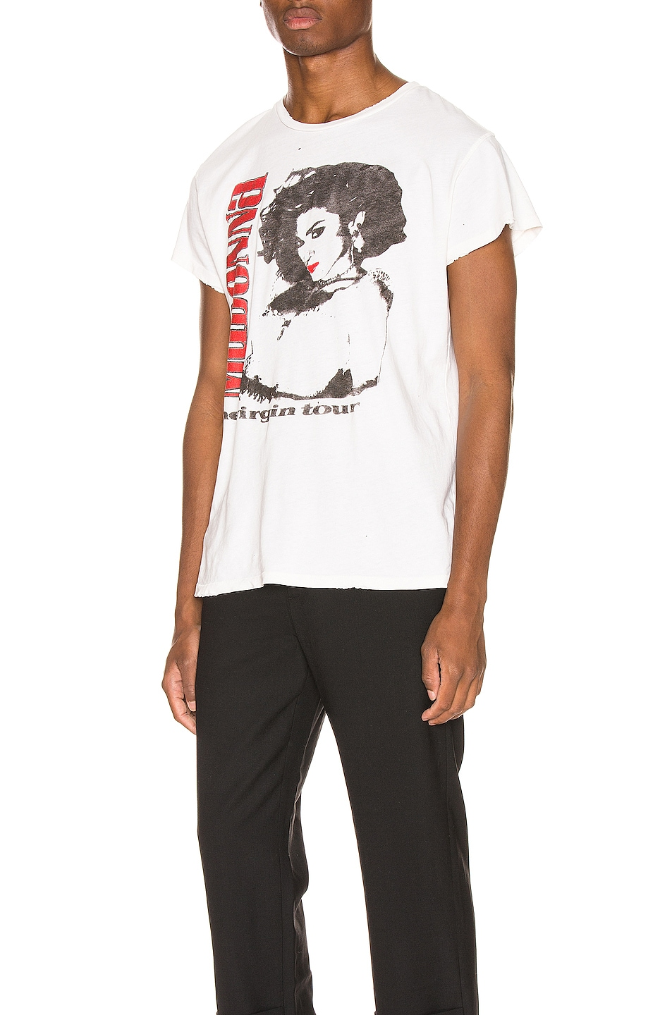 Image 3 of Madeworn Madonna The Virgin Tour Crew Tee in Off White