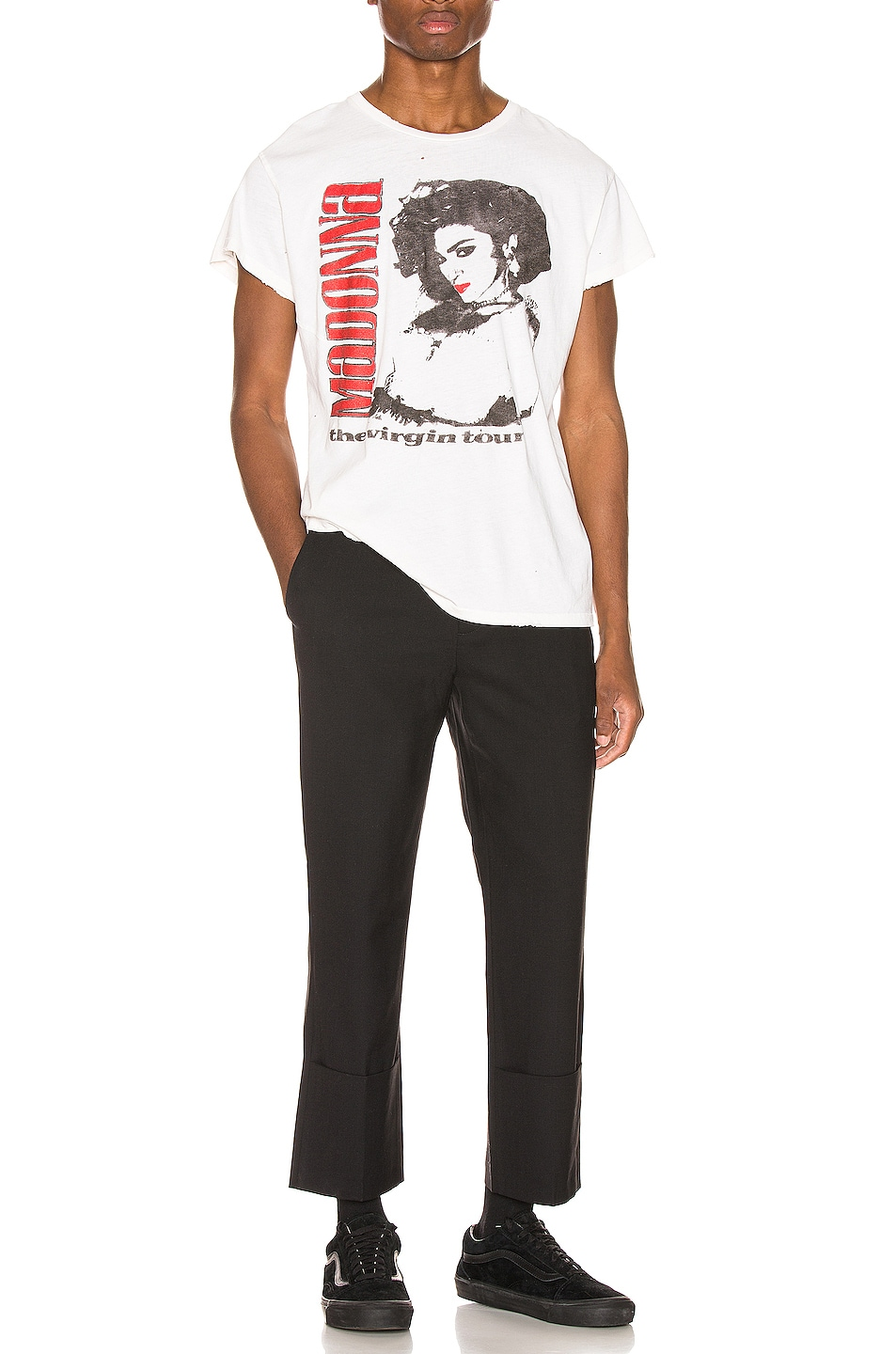 Image 5 of Madeworn Madonna The Virgin Tour Crew Tee in Off White