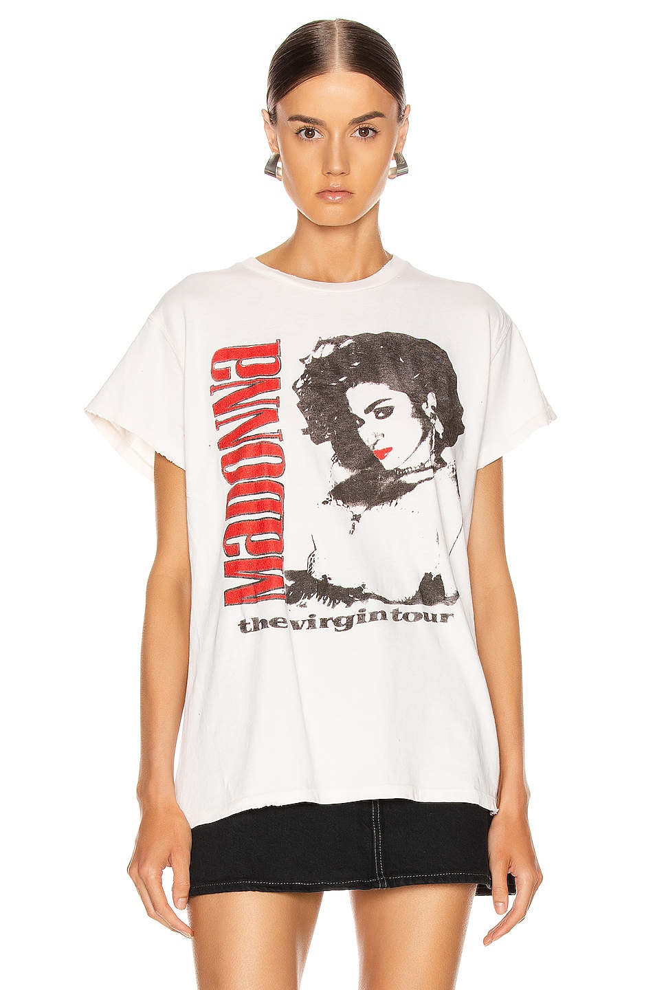 Image 2 of Madeworn Madonna The Virgin Tour Crew Tee in Off White