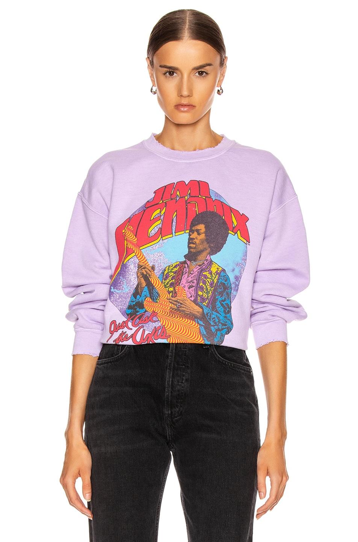 Image 1 of Madeworn Jimi Hendrix Just Ask The Axis Sweatshirt in Lilac