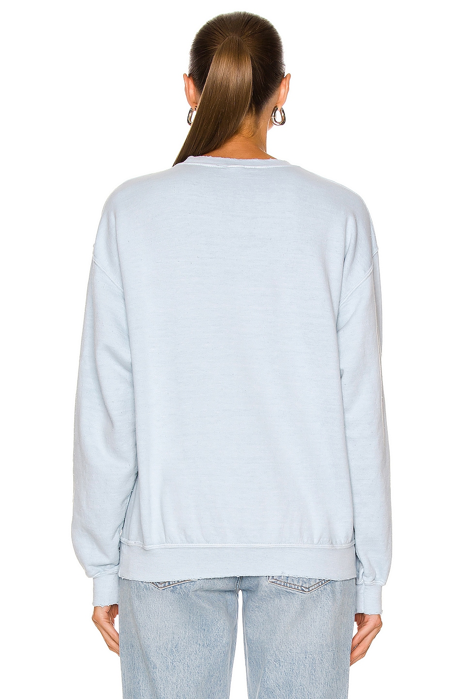 Image 3 of Madeworn The Rolling Stones Chainstitch Sweatshirt in Blue Haze