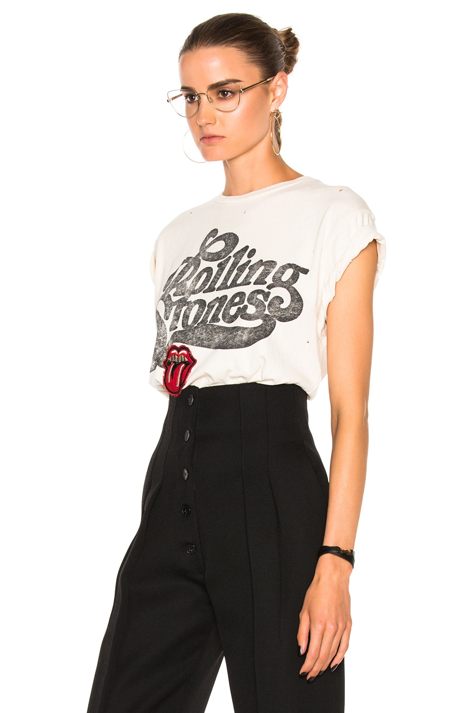 bcd840bd5 Image 2 of Madeworn Rolling Stones Patch Tee in Dirty White