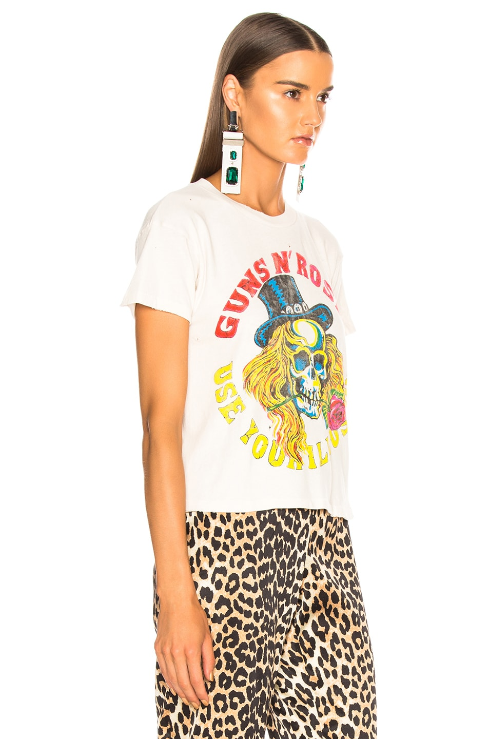 de7b90030b0 Image 3 of Madeworn Guns N' Roses Use Your Illusion Crop Tee in Off White