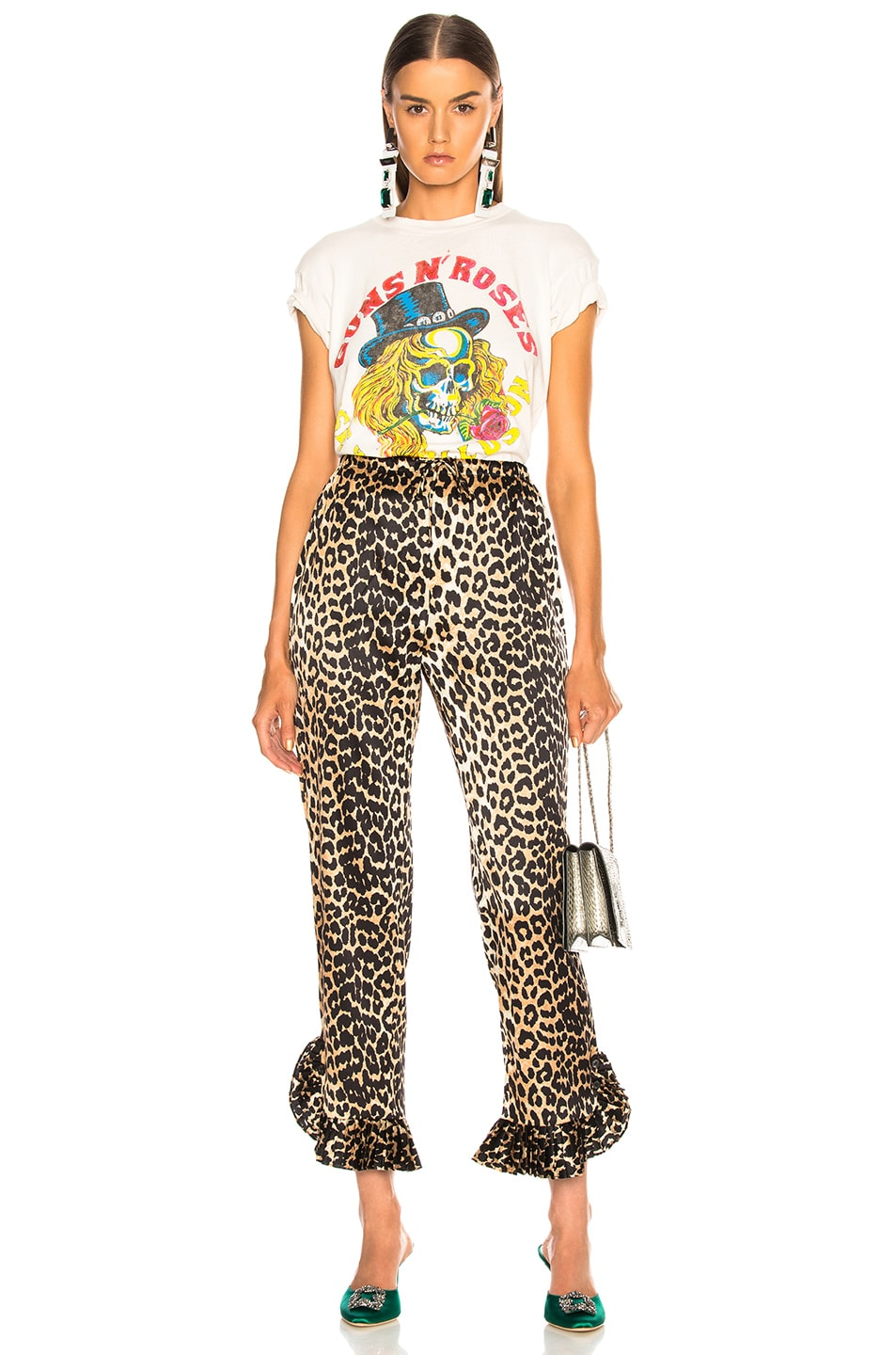c59287bd9a6 Image 5 of Madeworn Guns N' Roses Use Your Illusion Crop Tee in Off White