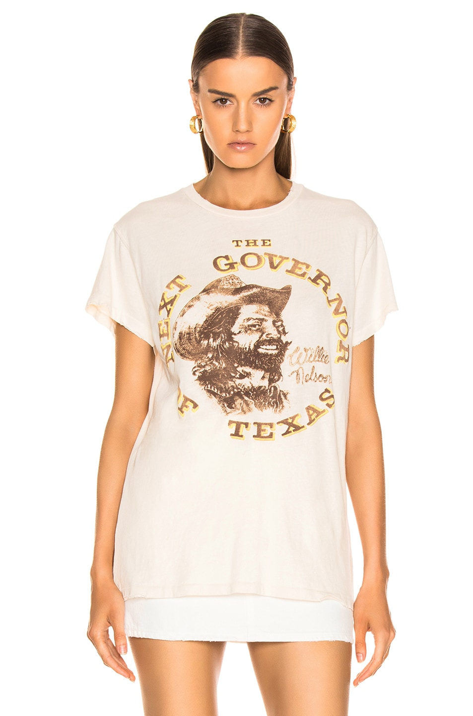 Image 2 of Madeworn Willie Nelson Next Governor of Texas Tee in Dirty White