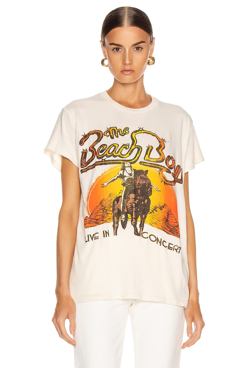 Image 2 of Madeworn The Beach Boys Live in Concert Crew Tee in Dirty White