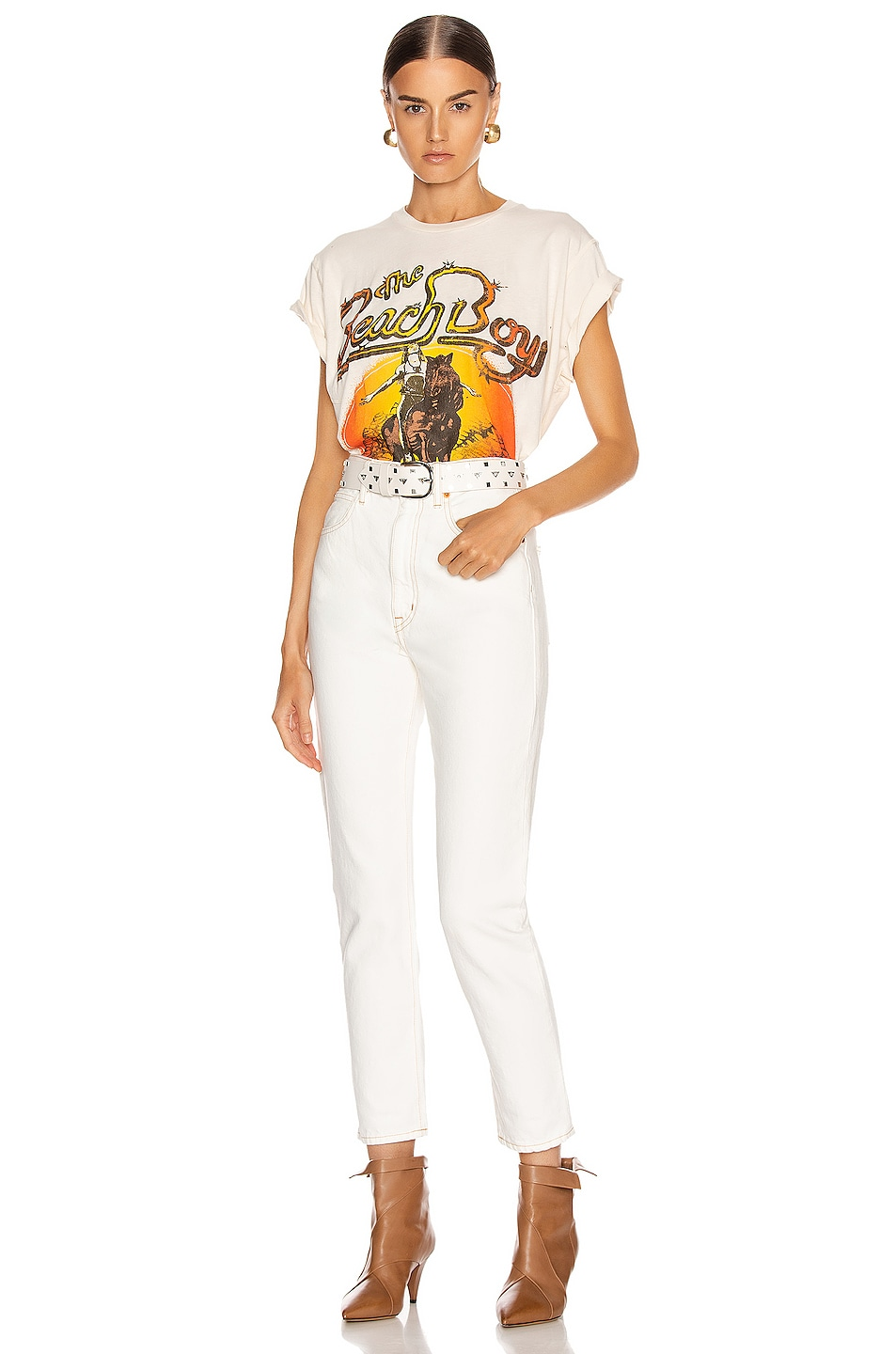 Image 5 of Madeworn The Beach Boys Live in Concert Crew Tee in Dirty White