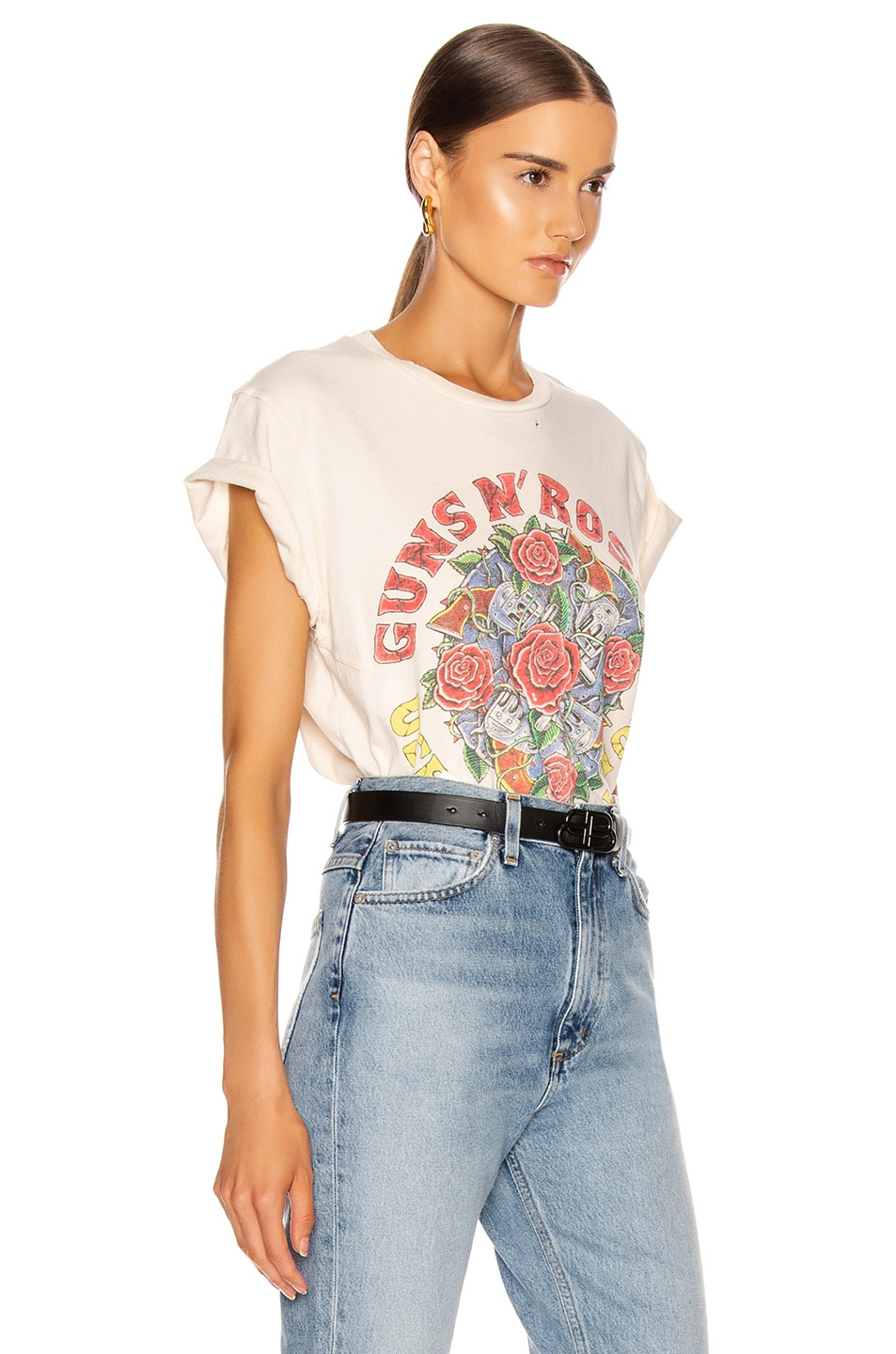 Image 3 of Madeworn Guns N Roses Use Your Illusion Crew Tee in Dirty White