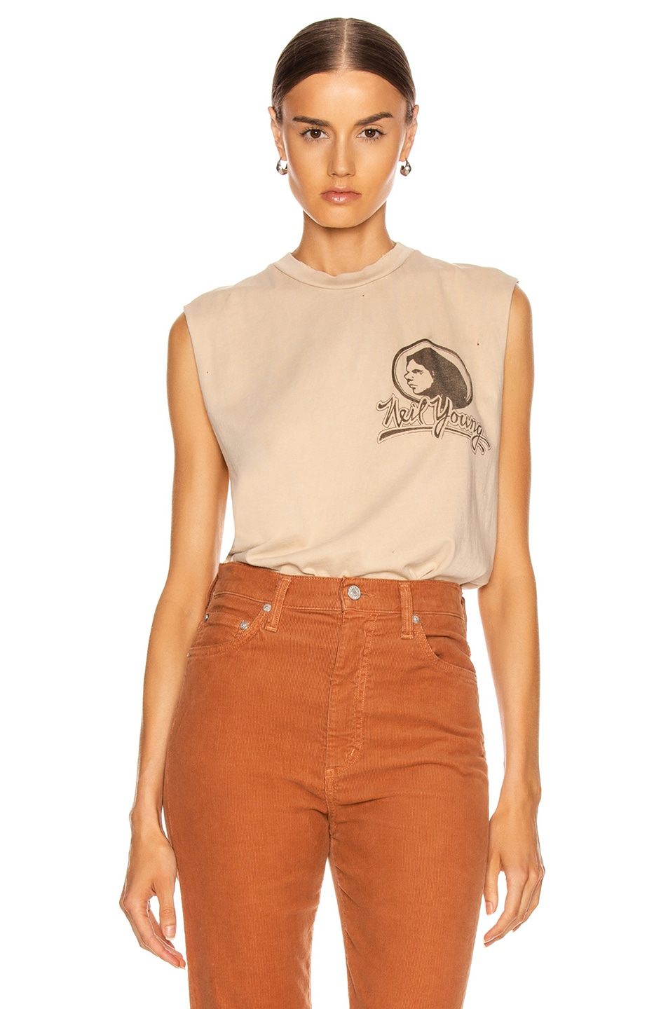 Image 2 of Madeworn Neil Young Muscle Tank in Taupe