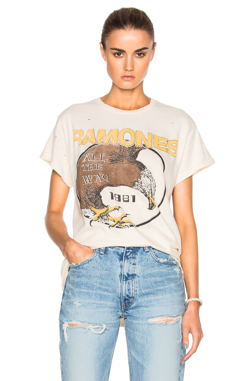 Image 1 of Madeworn Ramones 1981 Tee in Dirty White