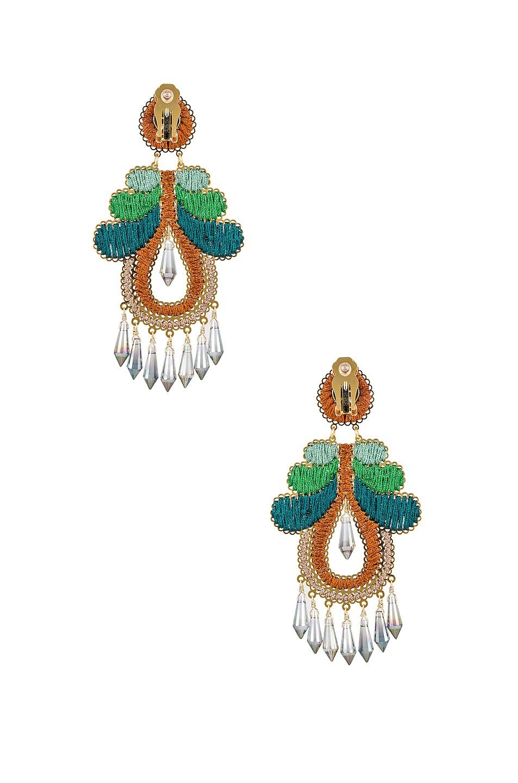 Image 3 of Mercedes Salazar Curubas Earrings in Orange, Green & Blue
